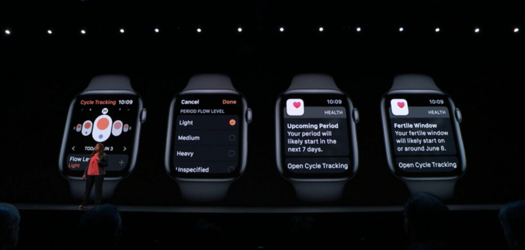 Cycle Trackling watchOS 6