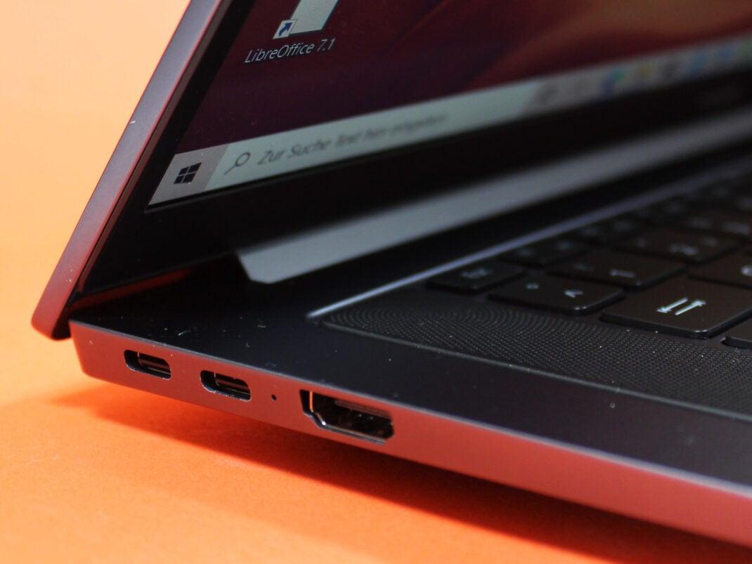 Linke Seite des Huawei MateBook D16