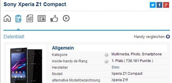 Datenblatt inside-handy.de