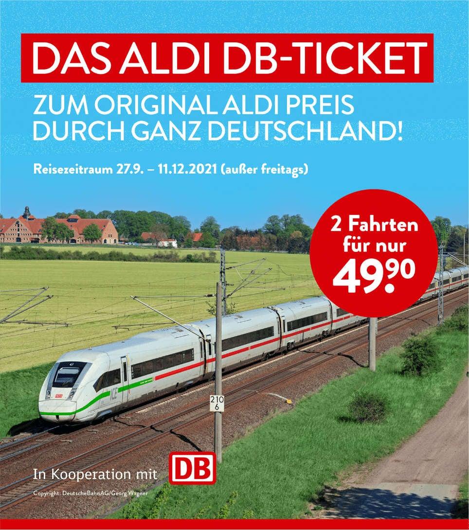 Aldi DB-Ticket Symbolbild