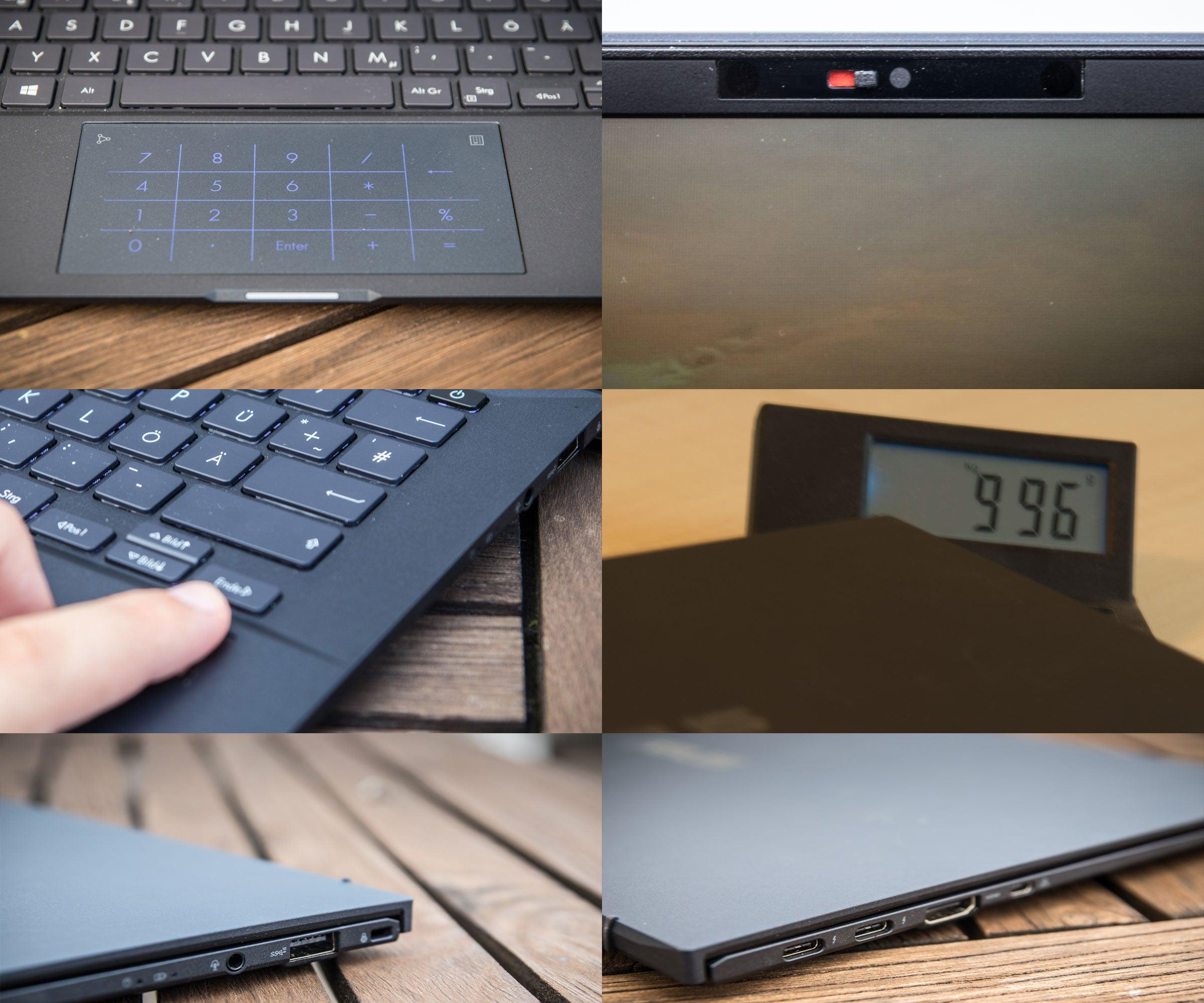 Detailbilder des Asus ExpertBook B9