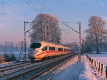 Deutsche Bahn im Schnee