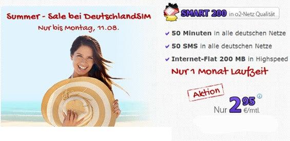DeutschlandSIM Smart 200 Angebot