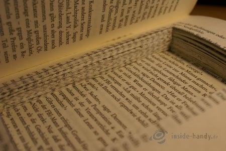 Die Aussparung im Buch umfasst ca. 100 bis 150 Seiten