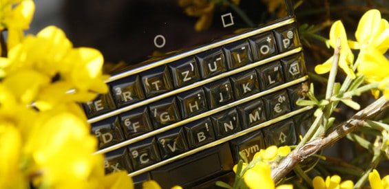 Die Tastatur des BlackBerry KEYone