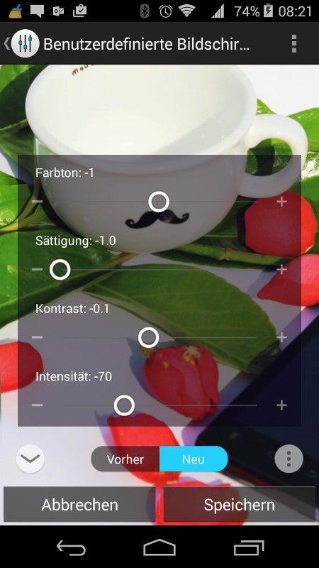 Displayeinstellungen Wiko Ridge 4G