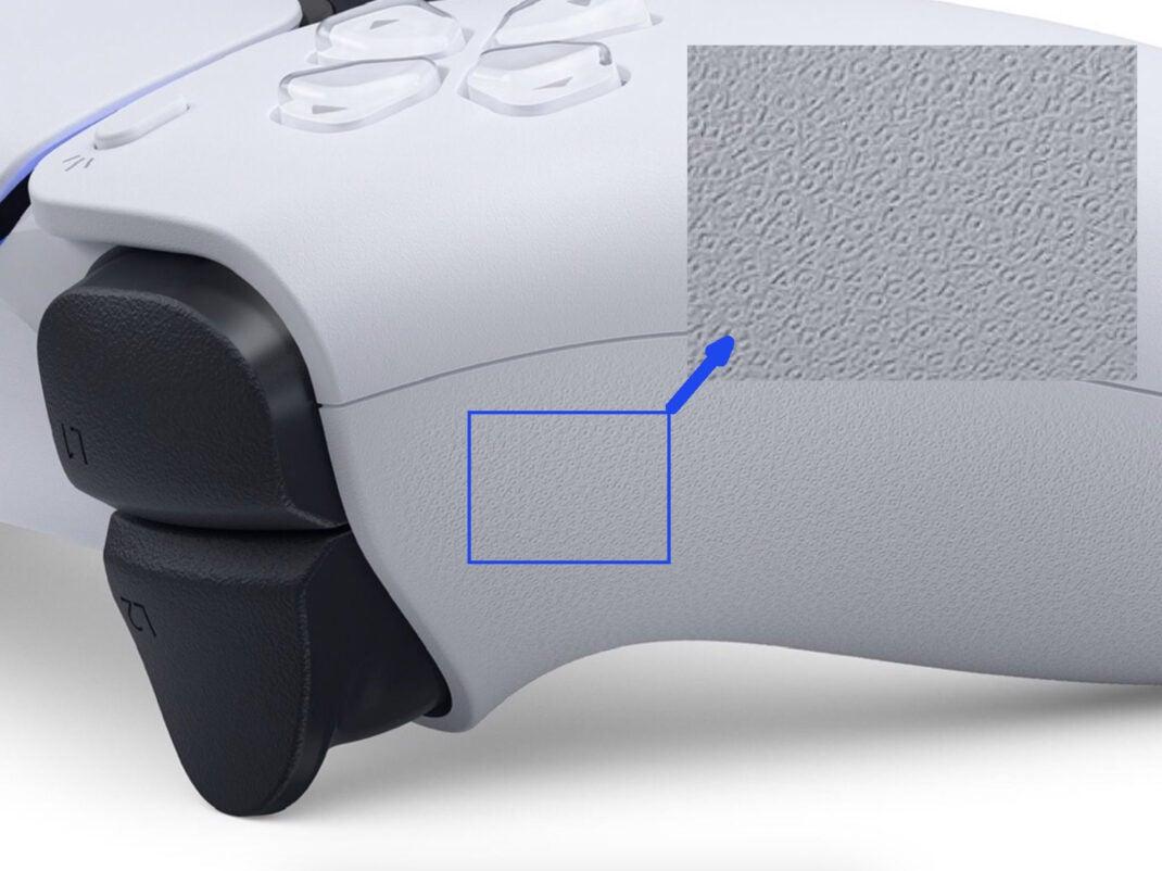 DualSense-Controller für PlayStation 5 mit Details in der Struktur