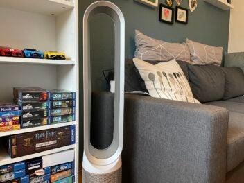 Dyson Pure Cool Link: Turmventilator mit Luftreiniger im Einsatz