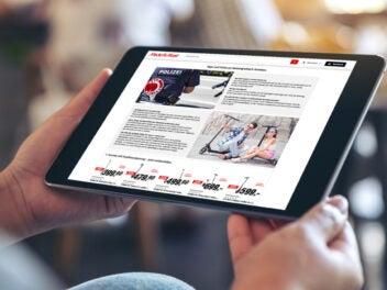 Online-Shopping bei Media Markt - E-Scooter