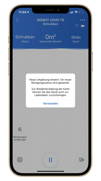 Screenshot des App-Fehlers