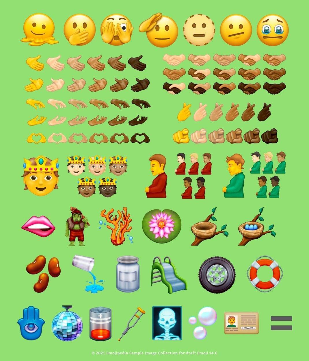 Die neuen Emojis in Version 14.0