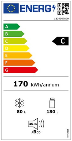 Energielabel für Kühlschränke und andere Kühlgeräte