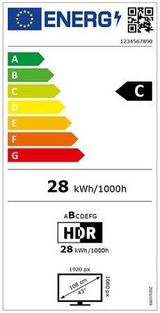 Energielabel für Fernseher