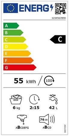 Energielabel für Waschmaschinen