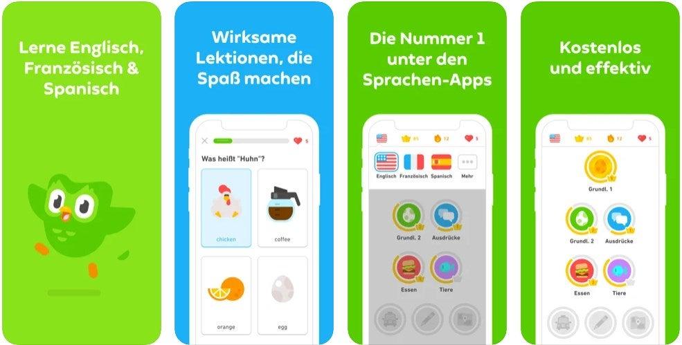 Englisch oder Spanisch lernen mit Duolingo