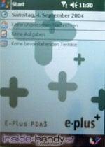 E-Plus PDA 3 (Qtek 9090): Hauptbildschirm