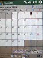 E-Plus PDA 3 (Qtek 9090): Kalender