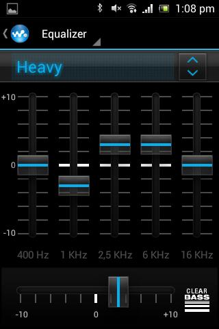 Equalizer der Walkman-App Sony Xperia E