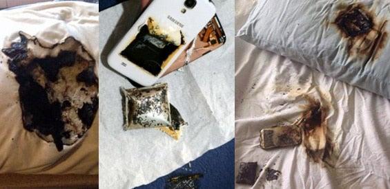 Explodierte Smartphones