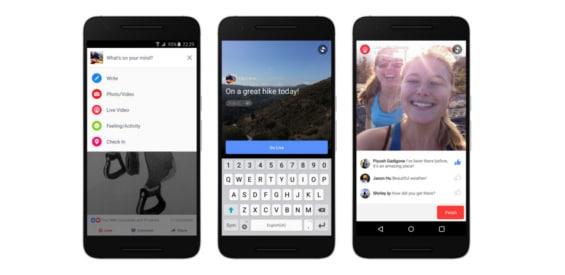 Facebook Live Video für Android