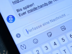 Facebook Messenger mit inside handy Logo