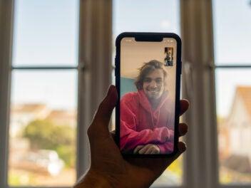FaceTime auf einem iPhone
