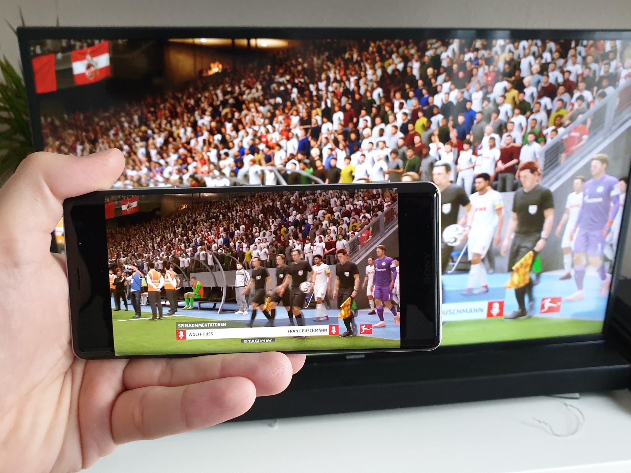 FIFA 19 mit PlayStation-Remote-App auf einem Sony Xperia XZ3