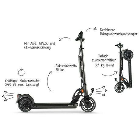 Der Fischer IOCO 1.0 E-Scooter im Detail