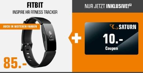 Fitbit Inspire HR mit Saturn-Gutschein.