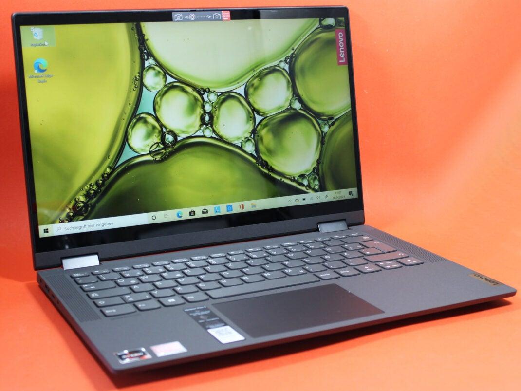 Taststur und Touchpad des Lenovo Ideapad Flex 5