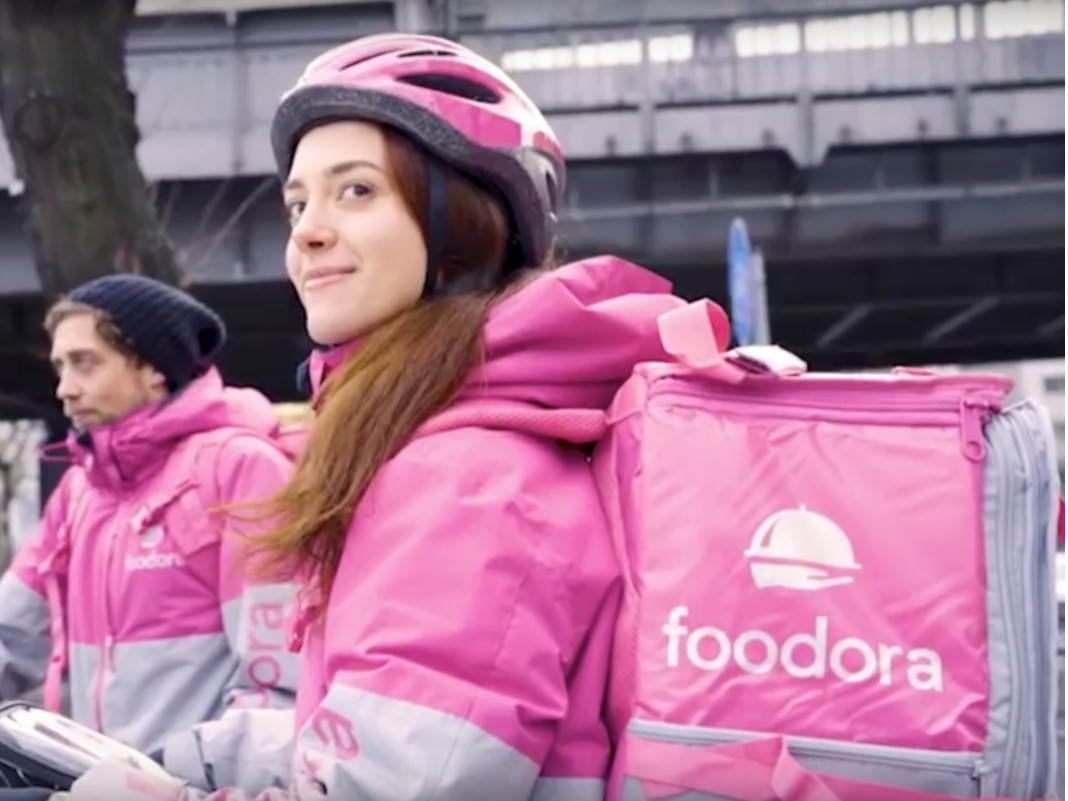 Foodora Liefer-Fahrer