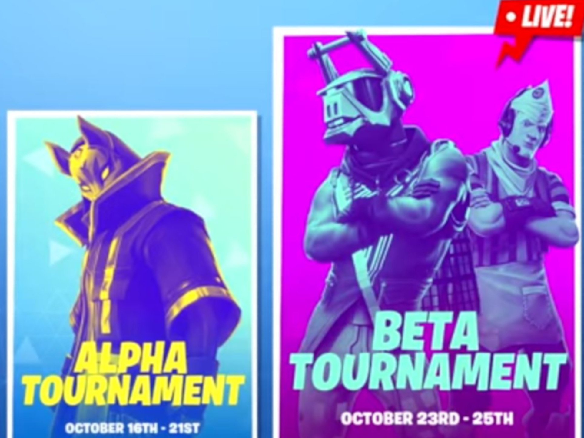 Screenshot der des Fortnite-Eventbereichs
