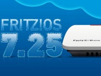Schriftzug Schriftzug FritzOS 7.25 mit einer Fritzbox