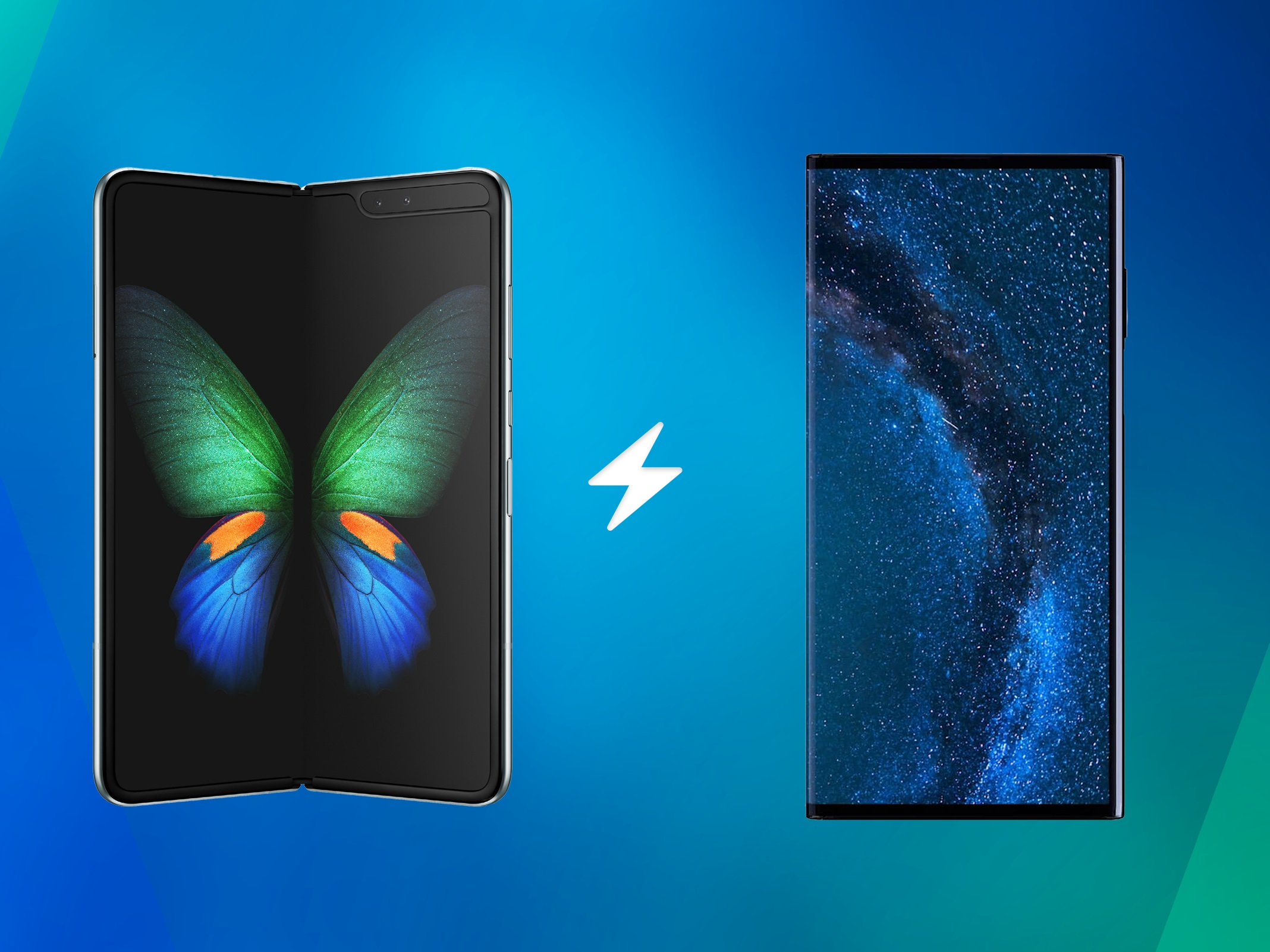 Samsung Galaxy Fold vs. Huawei Mate X