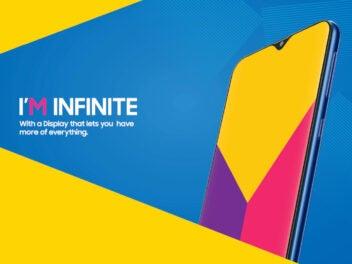 Samsung Galaxy M angekündigt: Smartphone auf Blau-Gelben Grund
