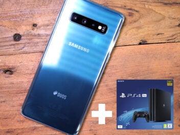 Samsung Galaxy S10 mit PlayStation 4 Pro