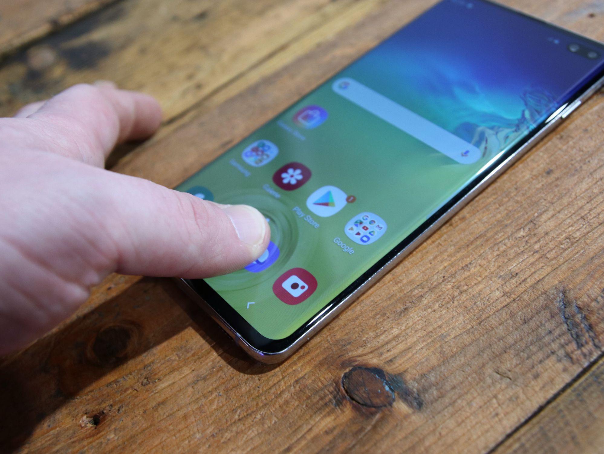 Hands-On Foto des Samsung Galaxy S10 Plus