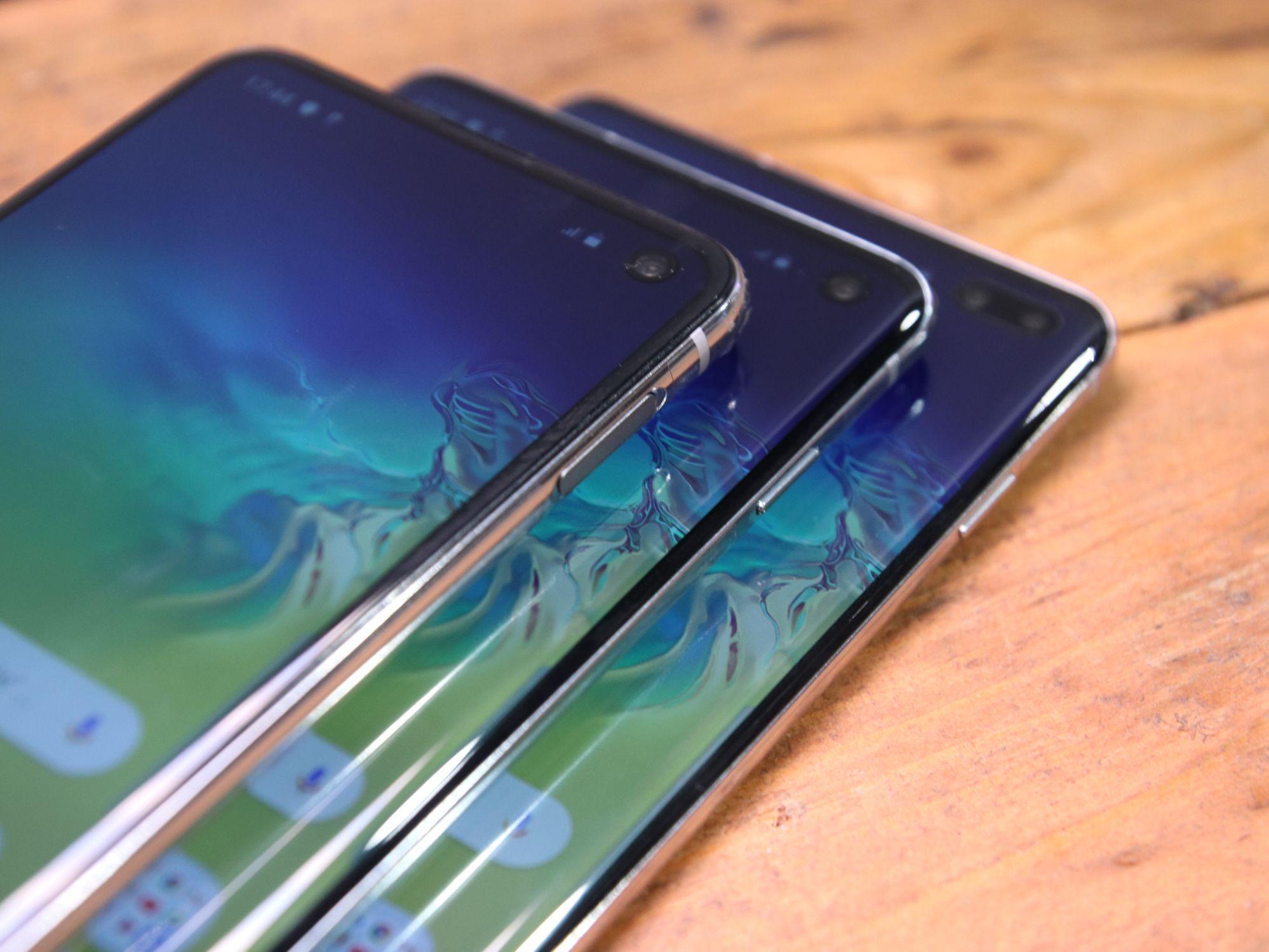 Foto vom Vergleich der Galaxy S10 Reihe