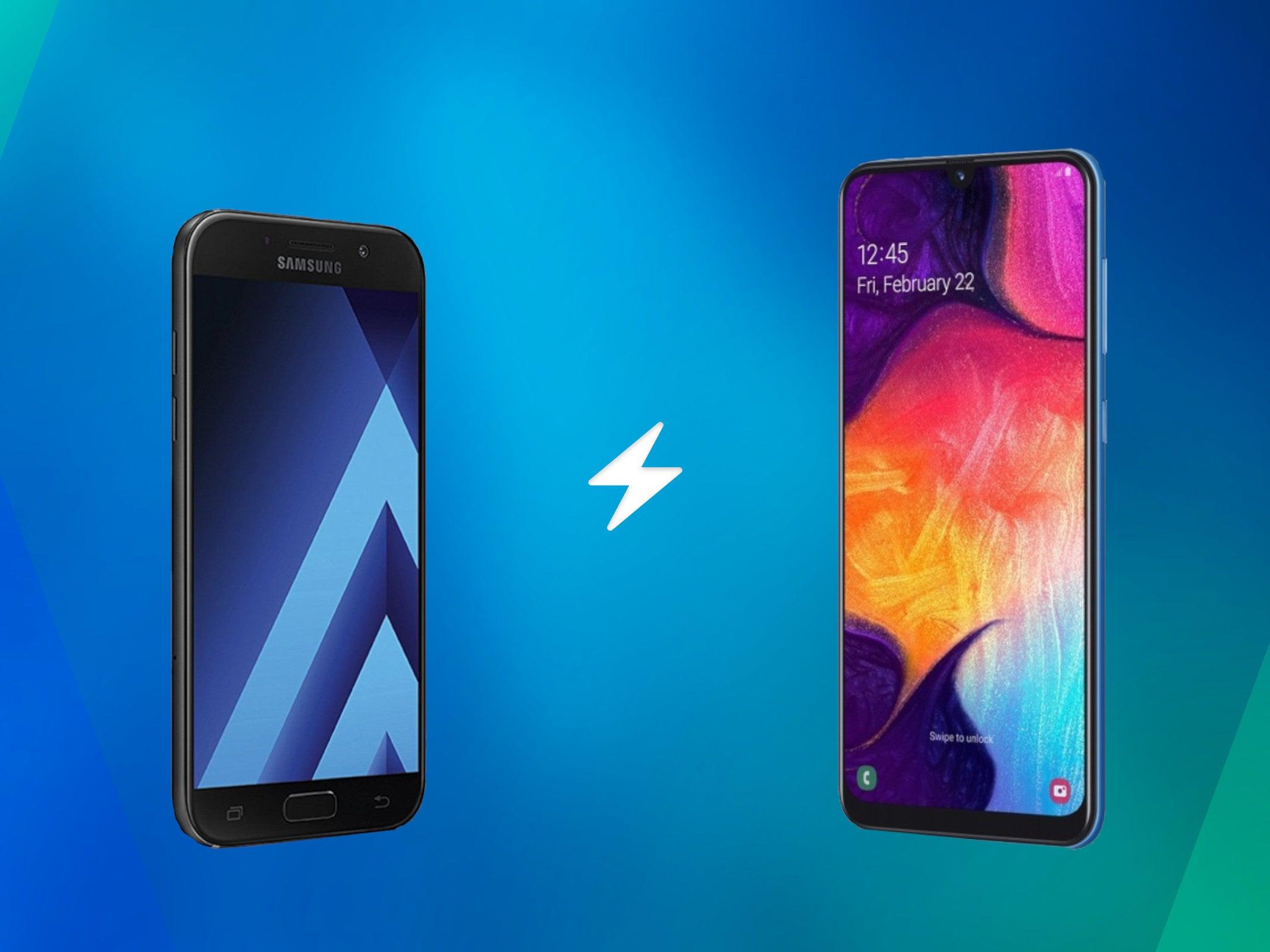 Samsung Galaxy A5 (2017) vs. Galaxy A50