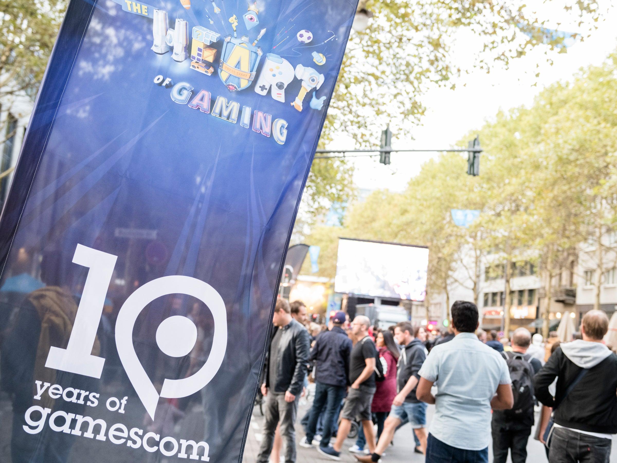 Gamescom-Werbung in Köln