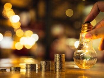 Licht, Geld, Münzen, Energie