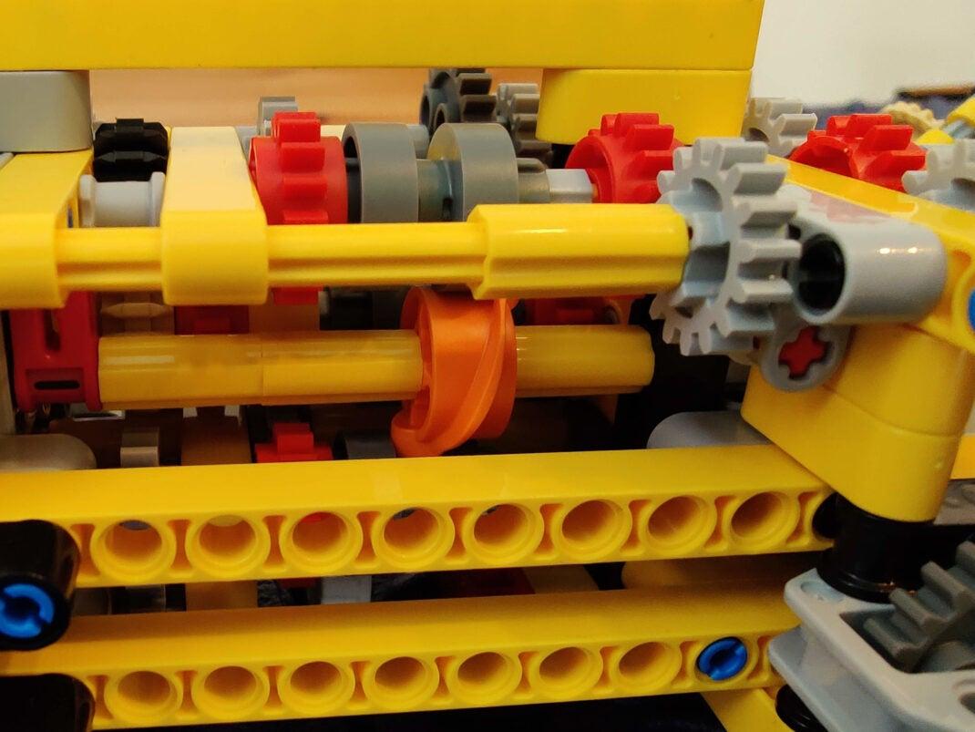 Getriebe des Lego Technic Volvo Dumper 42114