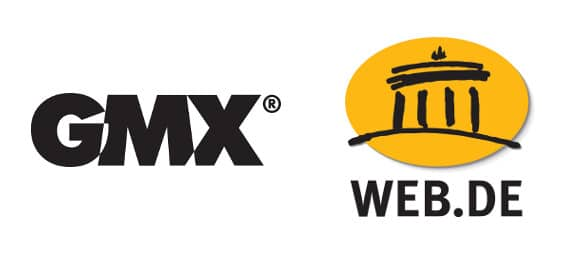 GMX und Web.de Logo