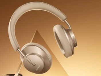 Goldene Freebuds Studio von Huawei
