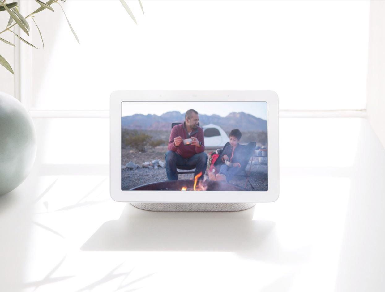 Camping-Szene auf dem Google Home Hub