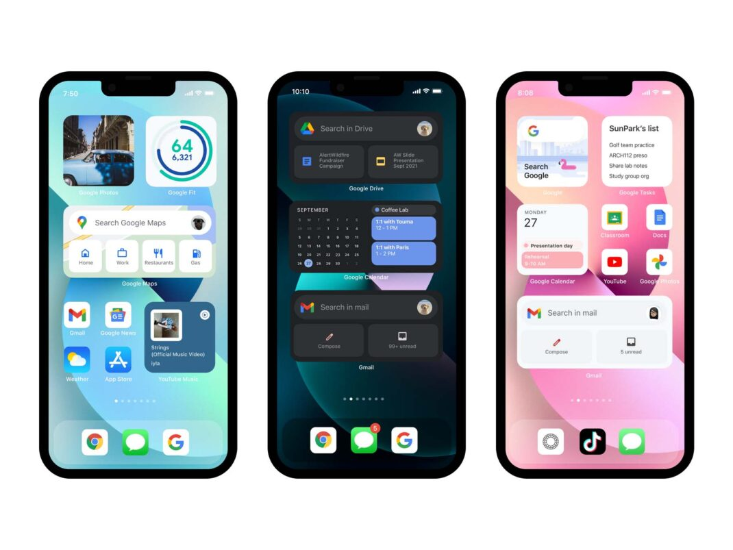 Googles Vorschläge für iOS-Home-Screens