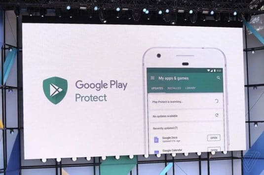 Google Play Protect bei der Google I/O