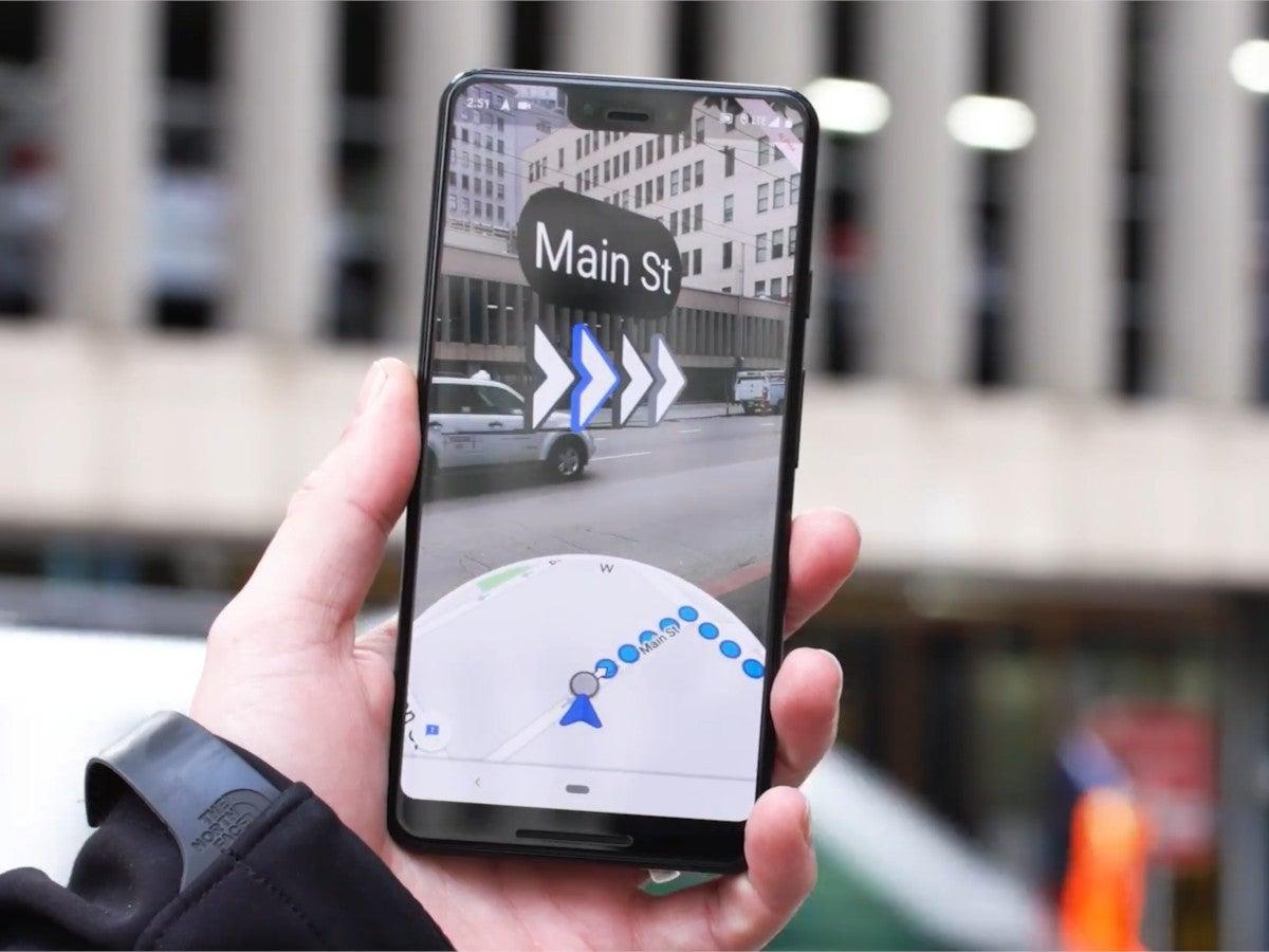 Die AR-Funktion von Google Maps