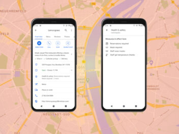 Google Maps Health-Funktion