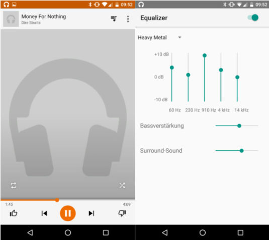 Google Nexus 6P Musik-Player